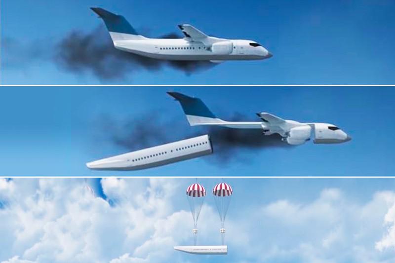 Системы безопасности модульного самолета.